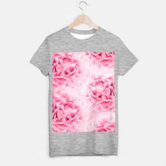 Light Red Peonies Dream #1 #floral #decor #art T-Shirt regulär thumbnail image