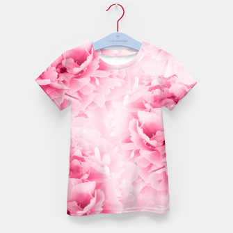 Light Red Peonies Dream #1 #floral #decor #art T-Shirt für kinder thumbnail image