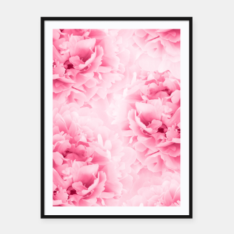 Light Red Peonies Dream #1 #floral #decor #art Plakat mit rahmen thumbnail image