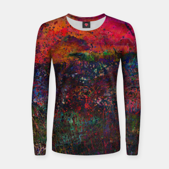 Thumbnail image of Purple Sky Woman cotton sweater, Live Heroes