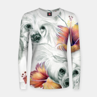 Thumbnail image of Chinese Roses Woman cotton sweater, Live Heroes