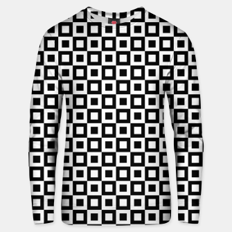 Thumbnail image of Black White Squares Within Squares Cotton sweater, Live Heroes
