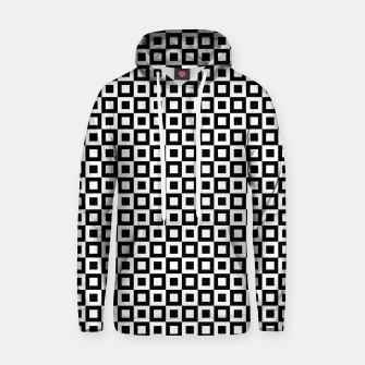 Thumbnail image of Black White Squares Within Squares Cotton hoodie, Live Heroes