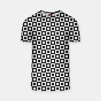 Thumbnail image of Black White Squares Within Squares T-shirt, Live Heroes