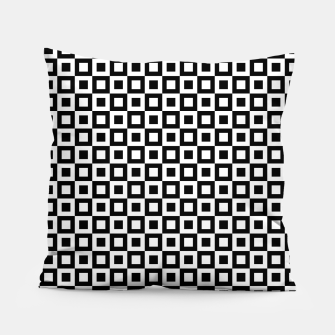 Thumbnail image of Black White Squares Within Squares Pillow, Live Heroes