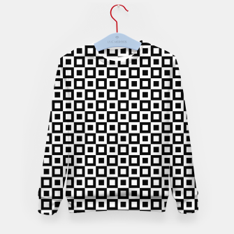 Thumbnail image of Black White Squares Within Squares Kid's sweater, Live Heroes