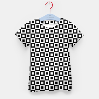 Thumbnail image of Black White Squares Within Squares Kid's t-shirt, Live Heroes