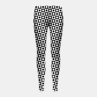 Thumbnail image of Black White Squares Within Squares Girl's leggings, Live Heroes