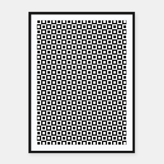 Thumbnail image of Black White Squares Within Squares Framed poster, Live Heroes