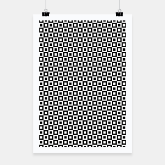Thumbnail image of Black White Squares Within Squares Poster, Live Heroes