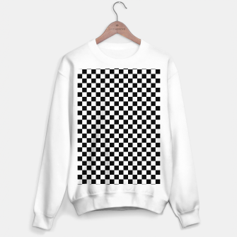 Thumbnail image of Black White Checker Board Pattern Sweater regular, Live Heroes