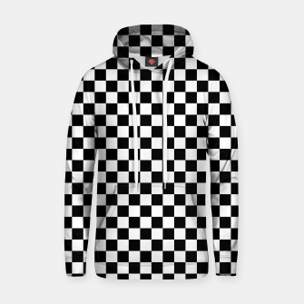 Thumbnail image of Black White Checker Board Pattern Cotton hoodie, Live Heroes