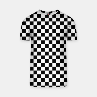 Thumbnail image of Black White Checker Board Pattern T-shirt, Live Heroes