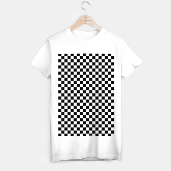 Thumbnail image of Black White Checker Board Pattern T-shirt regular, Live Heroes