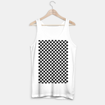 Thumbnail image of Black White Checker Board Pattern Tank Top regular, Live Heroes