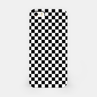 Thumbnail image of Black White Checker Board Pattern iPhone Case, Live Heroes