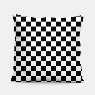Thumbnail image of Black White Checker Board Pattern Pillow, Live Heroes