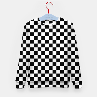 Thumbnail image of Black White Checker Board Pattern Kid's sweater, Live Heroes