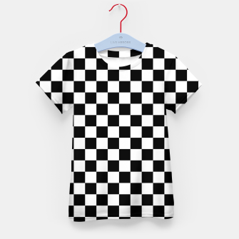 Thumbnail image of Black White Checker Board Pattern Kid's t-shirt, Live Heroes