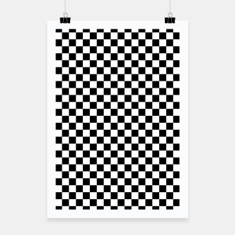Thumbnail image of Black White Checker Board Pattern Poster, Live Heroes