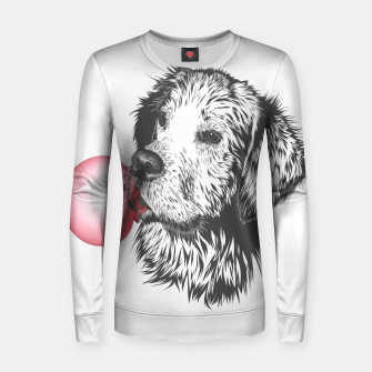 Imagen en miniatura de Bubble Gum Dog Woman cotton sweater, Live Heroes