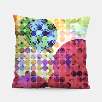 Miniaturka geometric circle pattern abstract background in red pink yellow orange green Pillow, Live Heroes