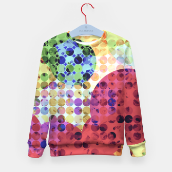 Miniaturka geometric circle pattern abstract background in red pink yellow orange green Kid's sweater, Live Heroes