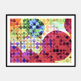 Miniaturka geometric circle pattern abstract background in red pink yellow orange green Framed poster, Live Heroes