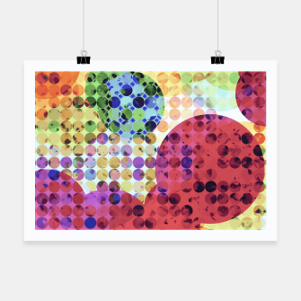 Miniaturka geometric circle pattern abstract background in red pink yellow orange green Poster, Live Heroes