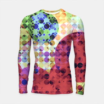 Miniaturka geometric circle pattern abstract background in red pink yellow orange green Longsleeve rashguard , Live Heroes