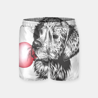 Thumbnail image of Bubble Gum Dog Swim Shorts, Live Heroes