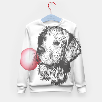 Thumbnail image of Bubble Gum Dog Kid's sweater, Live Heroes