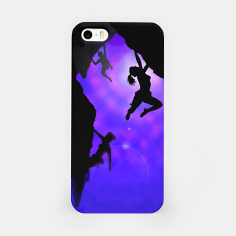 Miniature de image de moonlit climbers iPhone case, Live Heroes