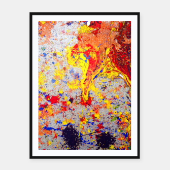 Thumbnail image of Colour Splash Acryl Painting Framed poster, Live Heroes