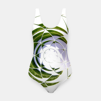 Thumbnail image of Olive Leaves Abstract Circle Swimsuit, Live Heroes