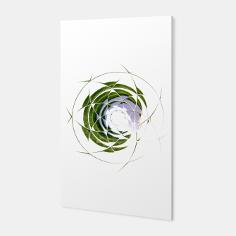 Thumbnail image of Olive Leaves Abstract Circle Canvas, Live Heroes