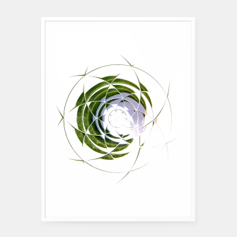 Thumbnail image of Olive Leaves Abstract Circle Framed poster, Live Heroes