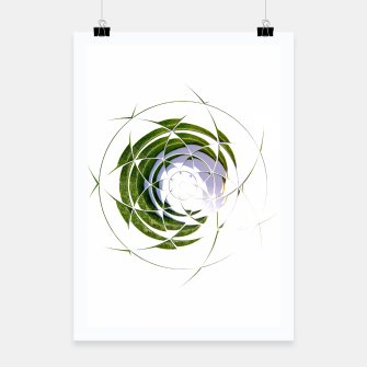 Thumbnail image of Olive Leaves Abstract Circle Poster, Live Heroes