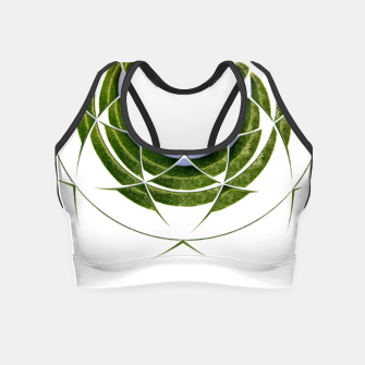 Thumbnail image of Olive Leaves Abstract Circle Crop Top, Live Heroes