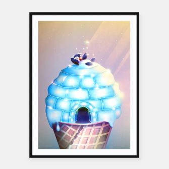 Thumbnail image of Igloo Flavour Plakat mit rahmen, Live Heroes