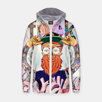 Thumbnail image of Hipster Cotton zip up hoodie, Live Heroes