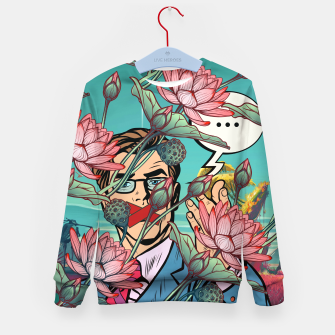 Thumbnail image of Keeping Mouth Shut Kid's sweater, Live Heroes