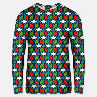 Thumbnail image of Isometric Cubic Lines - 11 Cotton sweater, Live Heroes