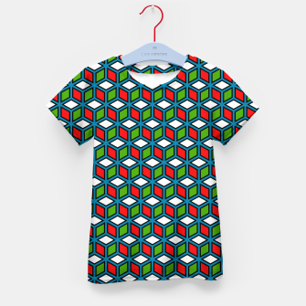 Thumbnail image of Isometric Cubic Lines - 11 Kid's t-shirt, Live Heroes