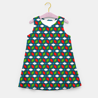 Thumbnail image of Isometric Cubic Lines - 11 Girl's summer dress, Live Heroes