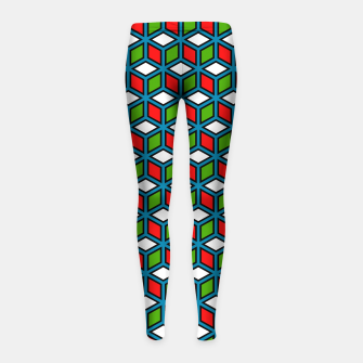 Thumbnail image of Isometric Cubic Lines - 11 Girl's leggings, Live Heroes