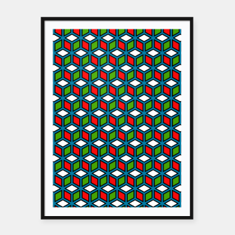 Thumbnail image of Isometric Cubic Lines - 11 Framed poster, Live Heroes