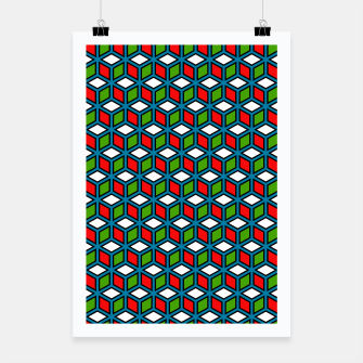 Thumbnail image of Isometric Cubic Lines - 11 Poster, Live Heroes
