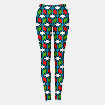 Thumbnail image of Isometric Cubic Lines - 11 Leggings, Live Heroes