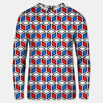 Thumbnail image of Isometric Cubic Lines - 12 Cotton sweater, Live Heroes